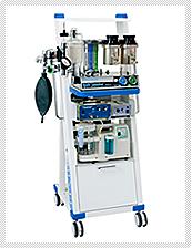 【動物用全身麻酔器】 手術をするために全身麻酔をかけ、維持する装置です。人工呼吸器もついています。